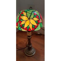 Lampe Vitrail sur pied -...