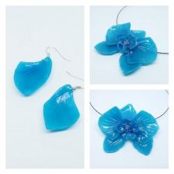 Parure Orchidée bleue