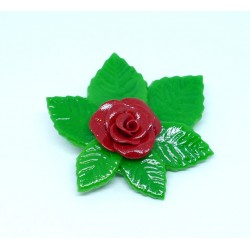 Broche Roses rouge