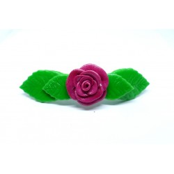 Barrette Rose rose