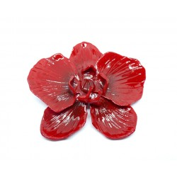 Broche Orchidée Rouge