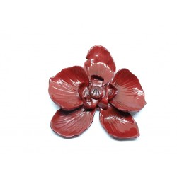 Broche Orchidée Bronze